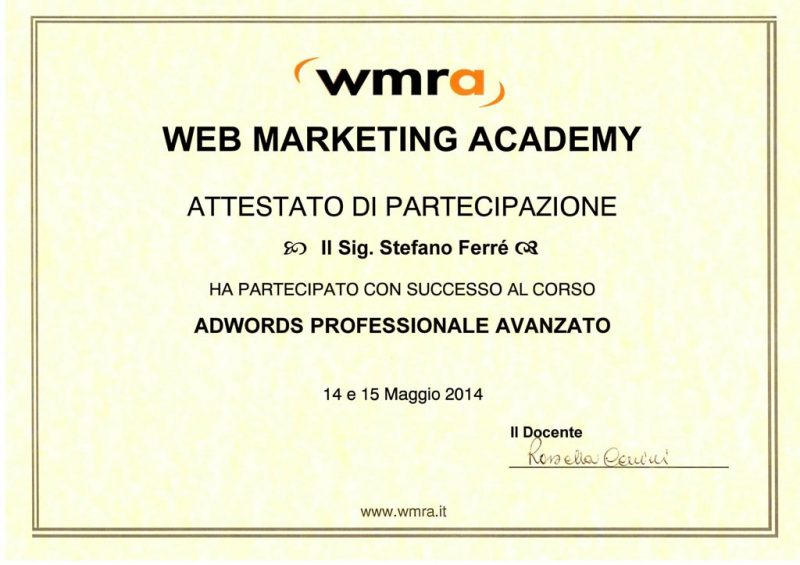 Adwords Professionale Avanzato