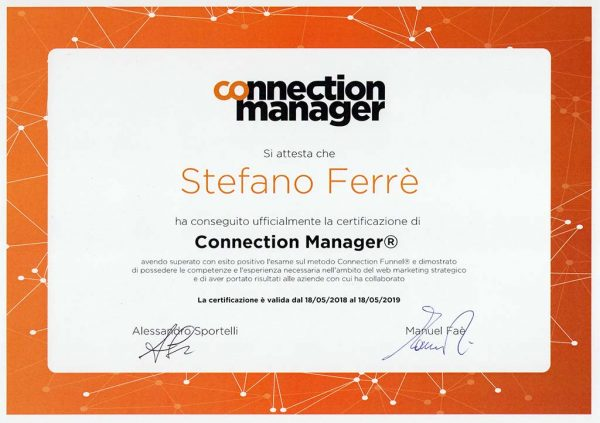 Certificato Connection Manager