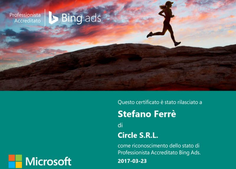 Professionista Accreditato Bing Ads